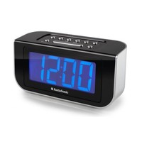 Wekker radio met blauw display