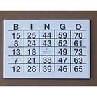 Bingoblok met grote letters
