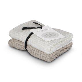 ASPEGREN Abwaschtuch 2er Set sand 100% Baumwolle