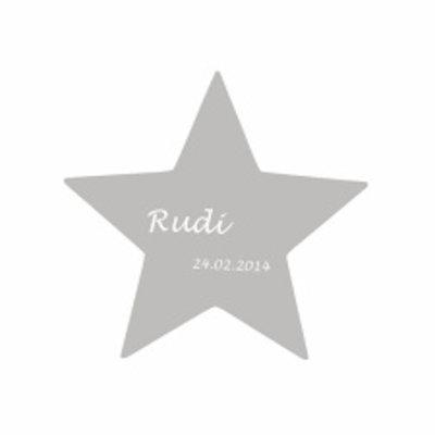 Stern mit Wunschgravur (klein)