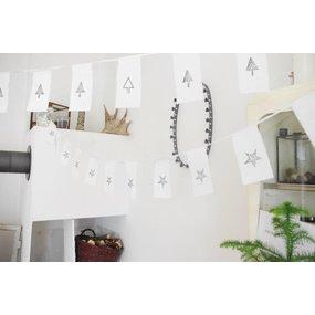 Girlande Christmas Tree  recyceltes Papier/Baumwolle