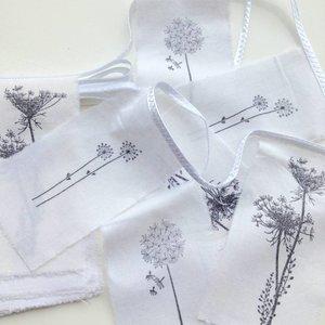 Afrodutch Girlande Nature recyceltes Papier / Baumwolle