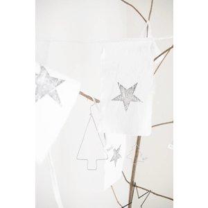Afrodutch Girlande Star recyceltes Papier / Baumwolle