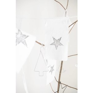 Girlande Star recyceltes Papier / Baumwolle
