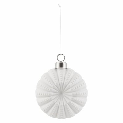 Ornament Flower weiß 7,5 cm
