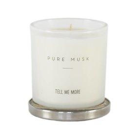 Tell Me More Duftkerze Soja-Wachs Pure Musk