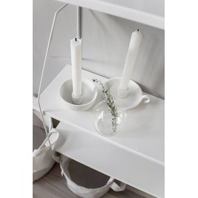 Storefactory Mini Lidatorp weiß Kerzenhalter