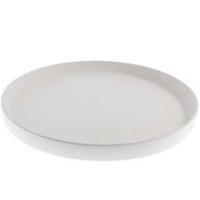 Storefactory Tablett Steingut weiß 28 cm