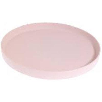 Storefactory Tablett Steingut puderrosa 28 cm