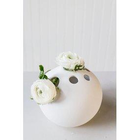 storefactory Vase HULT Ball weiß