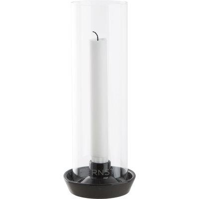 Ernst Windlicht Glas schwarz