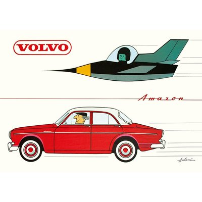 Postkarte Volvo Amazon A6