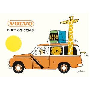Poster Plakat Volvo Kombi 70x50cm