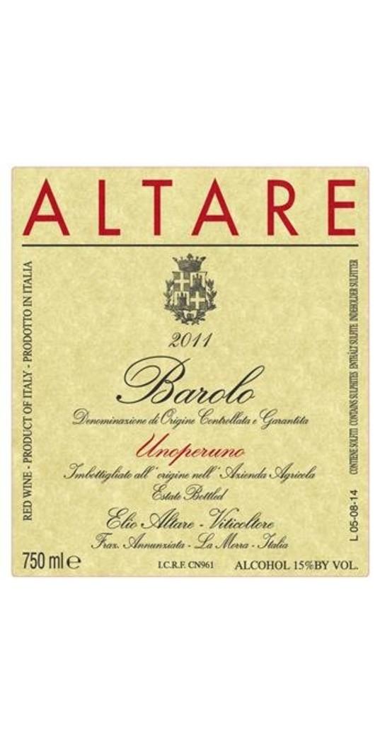 Elio Altare Elio Altare, Barolo docg Unoperuno 2013