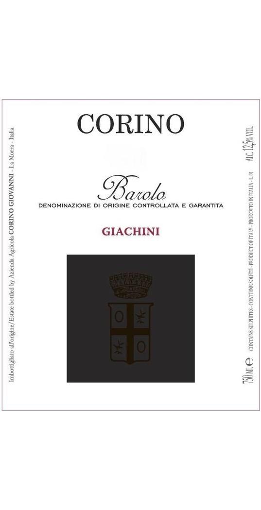 Corino Corino, Barolo docg Giachini 2014 1,5 l. Mg.
