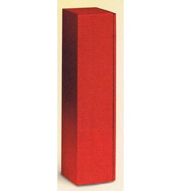 Weinpräsentkarton 1 Flasche Welle Rot