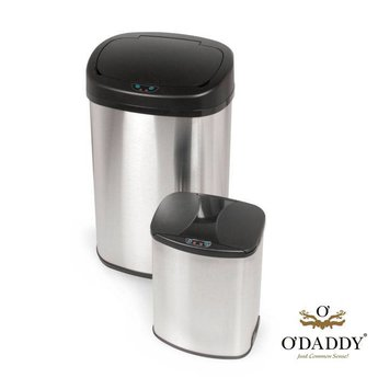 O'DADDY Automatische Infrarood Afvalemmer Ovaal Duo Set