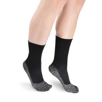Thermal socks with aluminum fibers