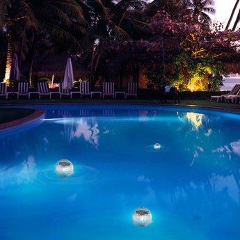 Drijvende Solar Vijver-/ Zwembad bal, set van 2 stuks