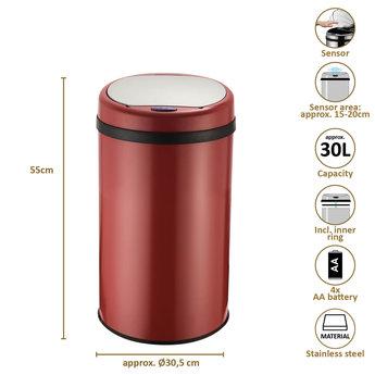 O'DADDY Sensor Dustbin Round, 30L