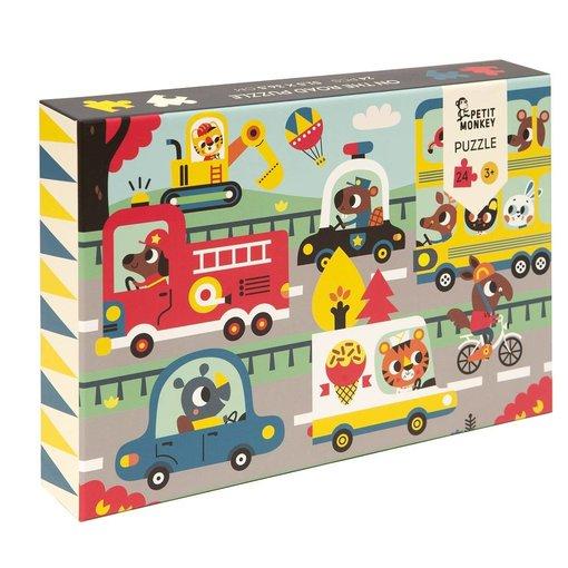 Petit Monkey PETIT MONKEY - Puzzel  on the road