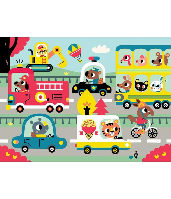 Petit Monkey PETIT MONKEY - Puzzel  on the road