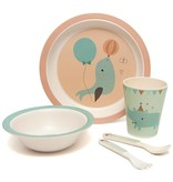 Petit Monkey PETIT MONKEY - Bamboe servies set Seal Peach