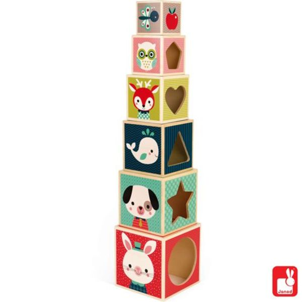 Janod - Baby Forest stapelblokken