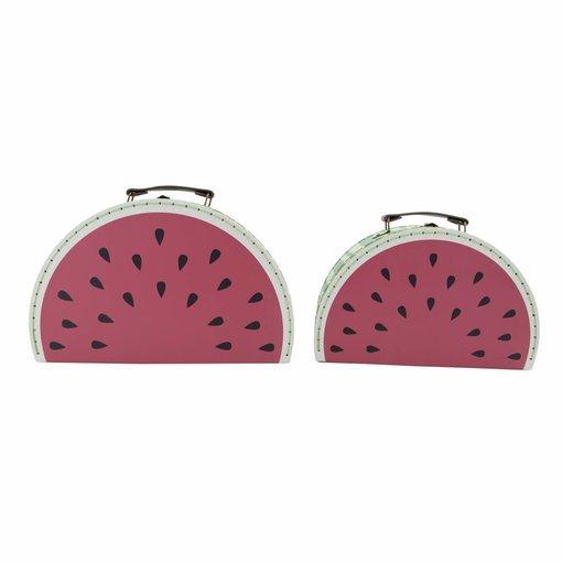 Sass & Belle SASS & BELLE - Koffer set Watermeloen