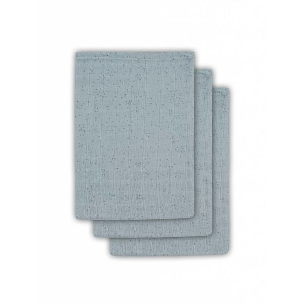 JOLLEIN - Hydrofiele washandjes 3 pack Stone Green