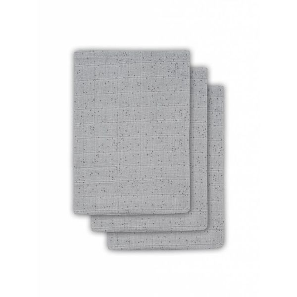 JOLLEIN - Hydrofiele washandjes 3 pack Mist Grey