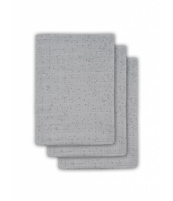Jollein JOLLEIN - Hydrofiele washandjes 3 pack Mist Grey