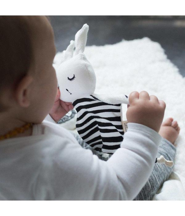 Wee Gallery WEE GALLERY - Knuffeldoekje konijn Strepen