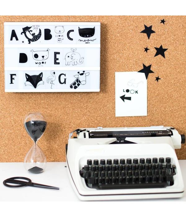Little Lovely Company A LITTLE LOVELY COMPANY - Lightbox letterset ABC zwart