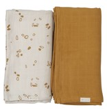 Fabelab FABELAB- Hydrofiele swaddle 2 pack pine cones
