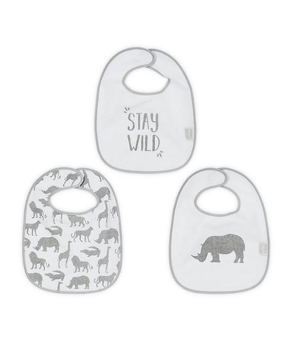 Jollein JOLLEIN - Slab 3 pack safari Stone Grey