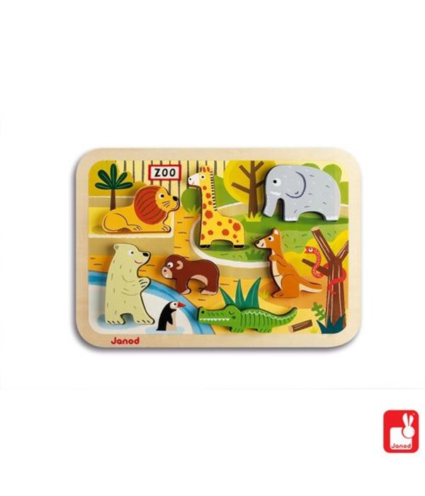 Janod Janod - Chunky puzzel Dierentuin
