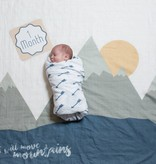 Lulujo LULUJO - Swaddle & cards I Will Move Mountains