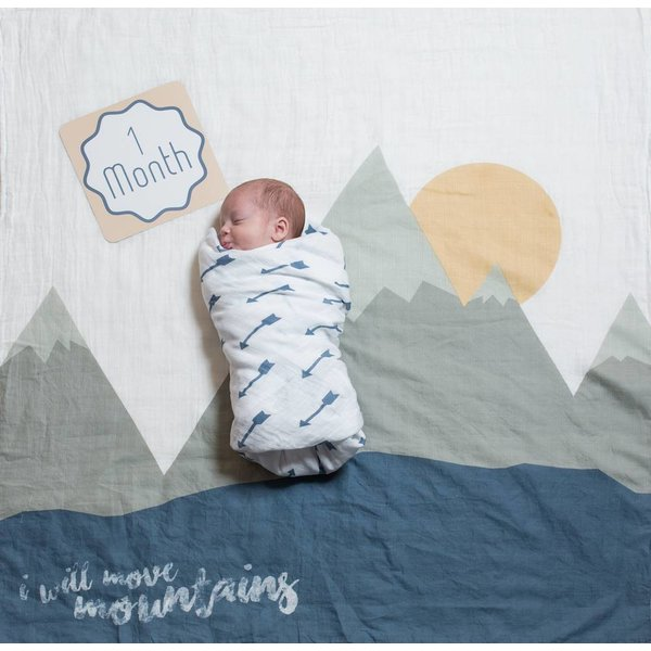 LULUJO - Swaddle & cards Mountains