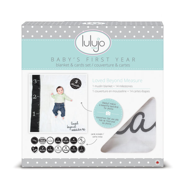 LULUJO - Swaddle & cards Loved Beyond Measure