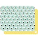 Bandjo BANDJO - Placemat vogels licht blauw / geel
