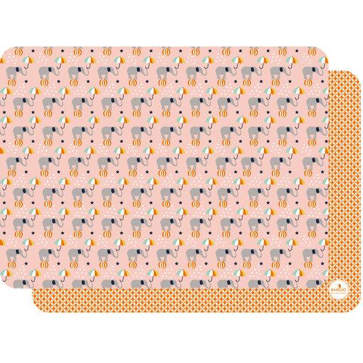 Bandjo BANDJO - Placemat olifant roze / oranje