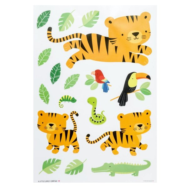 A LITTLE LOVELY COMPANY - Muursticker Jungle Tijger
