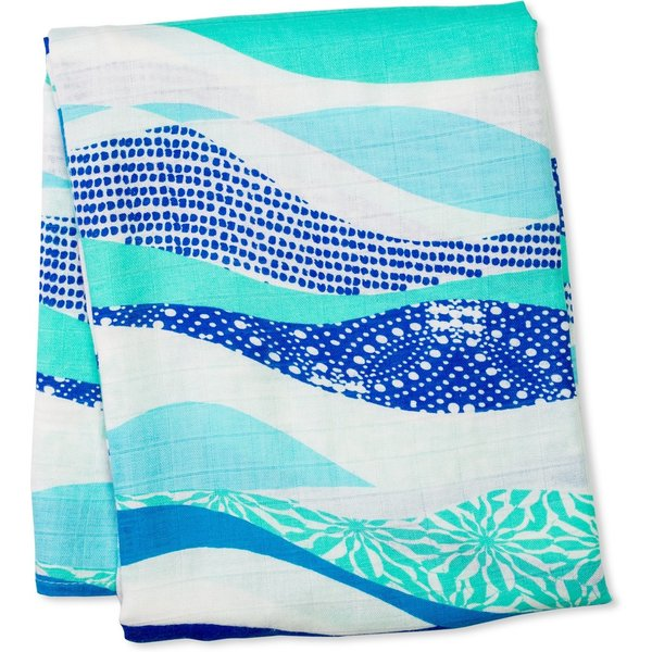 Lulujo - Hydrofiele bamboo swaddle Waves