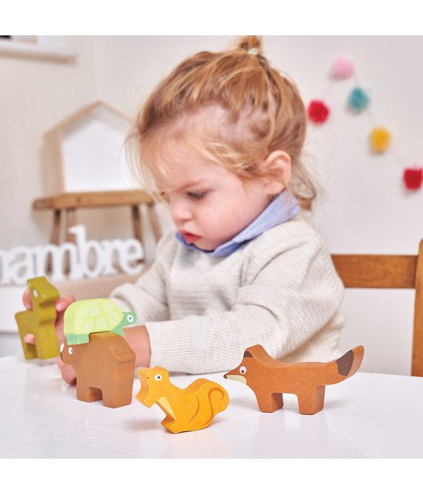 Le Toy Van LE TOY VAN - Bosdieren stapel speelgoed in tasje