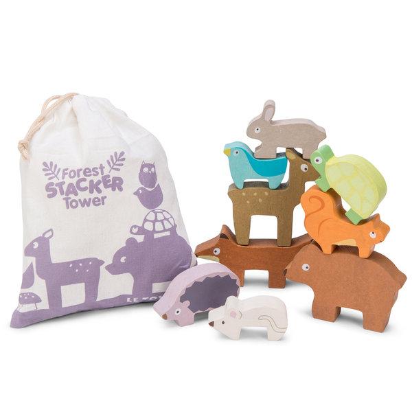 LE TOY VAN - Bosdieren stapel speelgoed in tasje