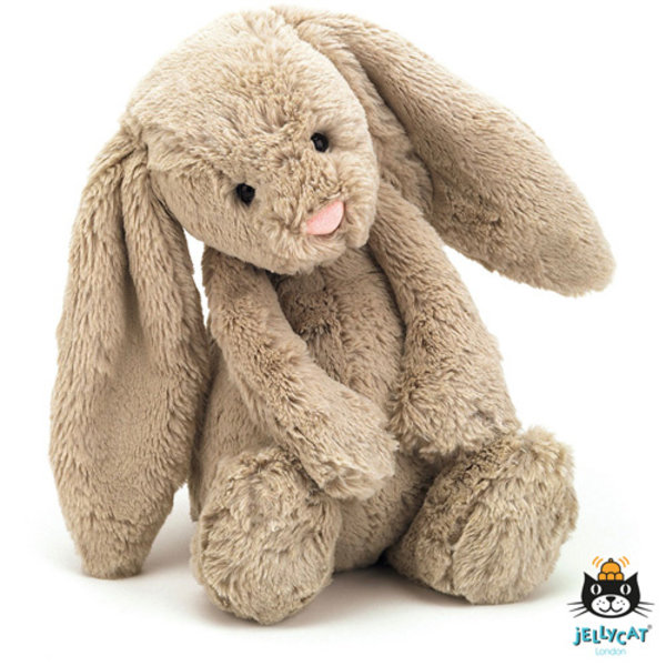 Jellycat - Bashful Bunny konijn beige - medium