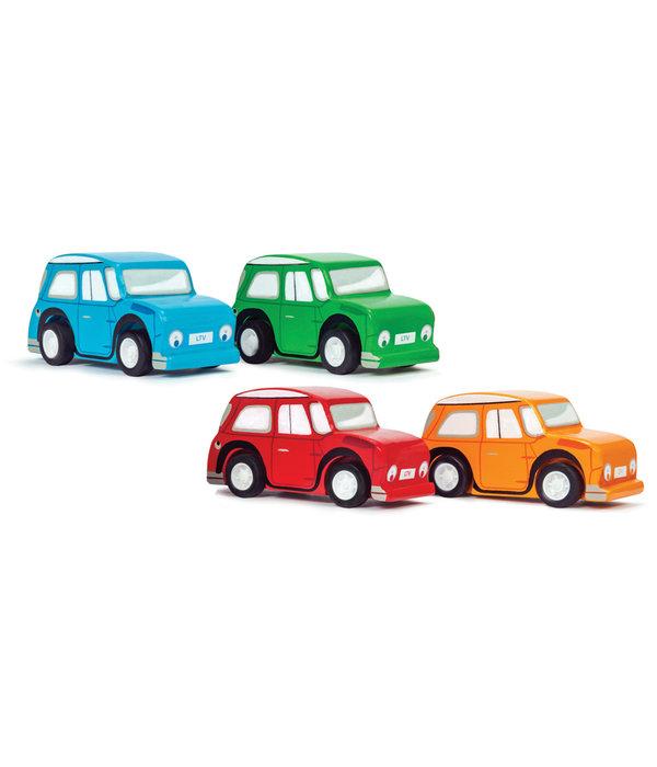Le Toy Van LE TOY VAN - Houten race auto blauw