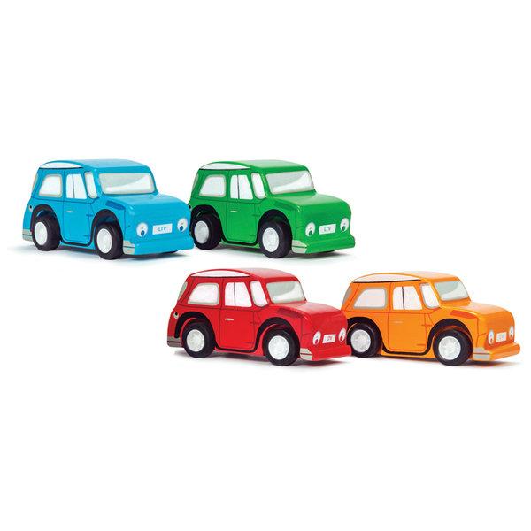 LE TOY VAN - Houten race auto oranje