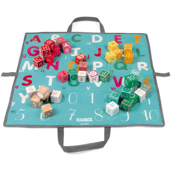Janod - Blokken letters & cijfers met speelmat